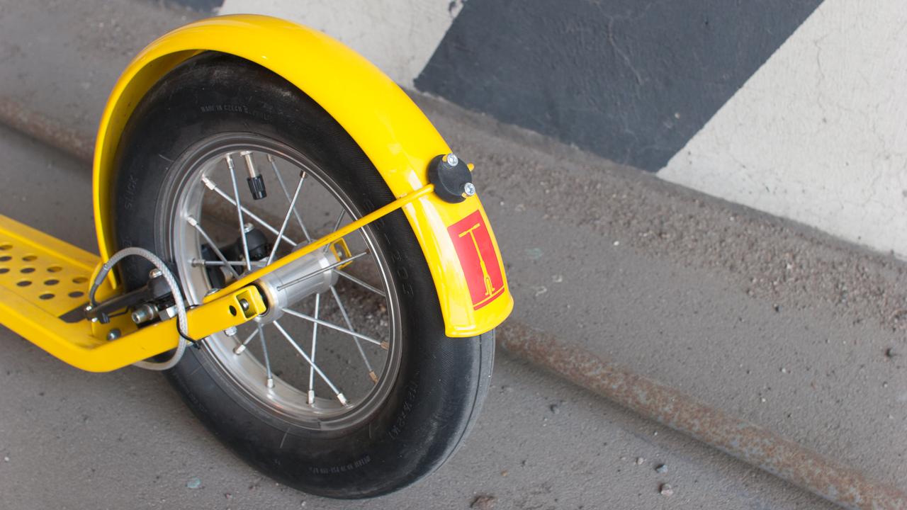 Самокат среды №79. Жёлтый K-bike