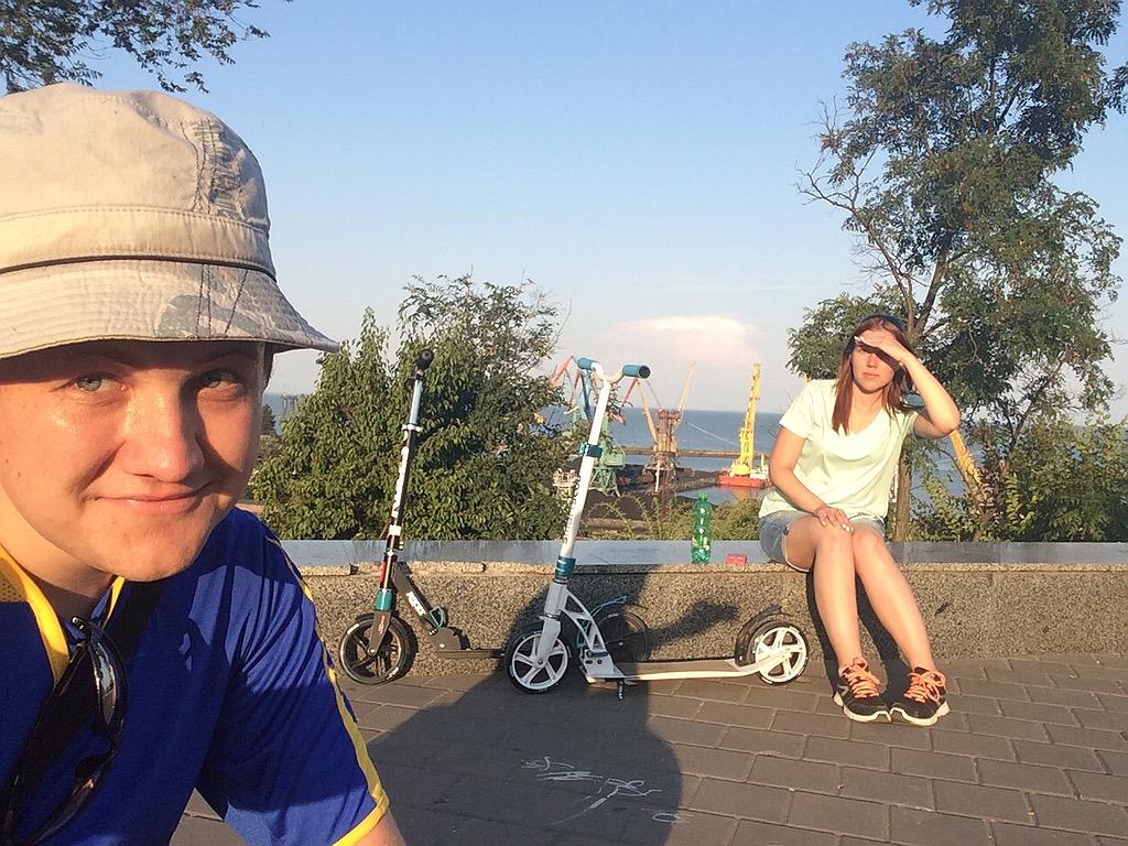 Путешествие с самокатом: юг России, Таганрог