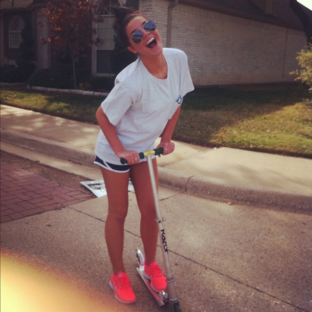 my kind of transportation... I mean who wouldn't #razorscooter down Frankford for some #coffeehouse. @lexiebrennan
