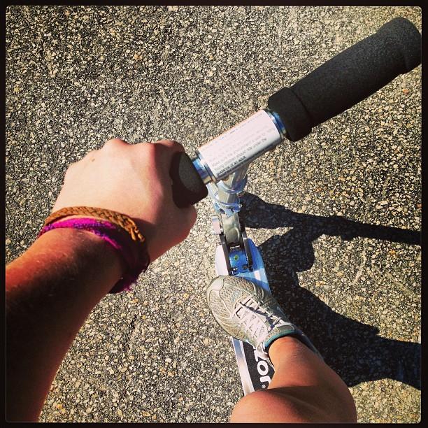 Living in the past #razorscooter #babysitting #summertime