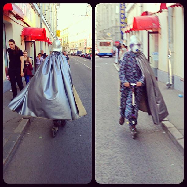 Silver Дарт Вейдер на самокате) #самокат #дартвейдер #scooter #москва #самокатер