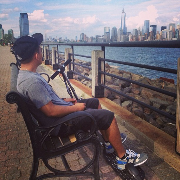 Meditating.. #park #xootr#scooter#downtown#