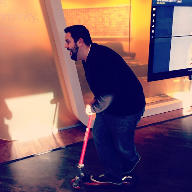 Quick break to scooter around the Fiber Space #googlefiber