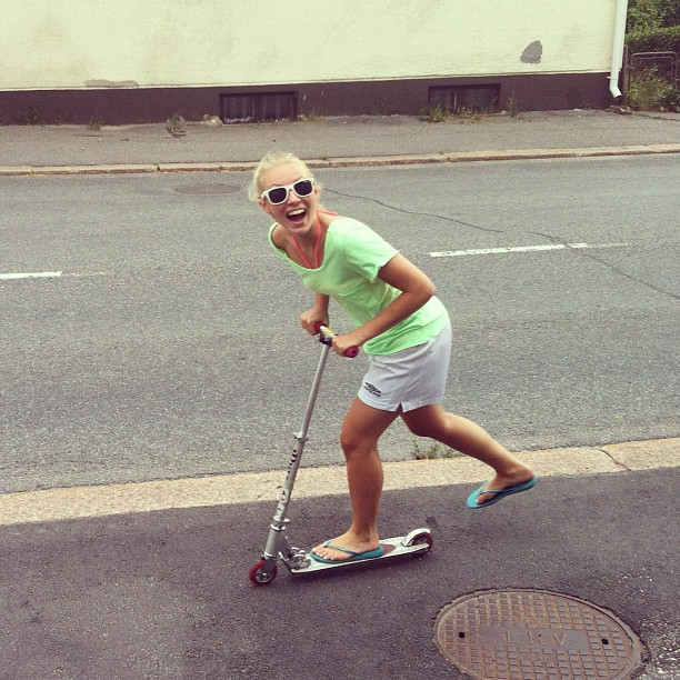 #me #and #kickscooter #summer #finland #haha #xd