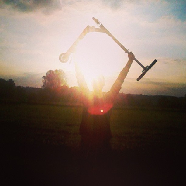 #scooter #trotinette #power #sunset