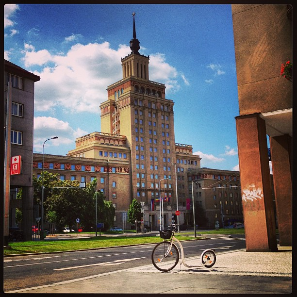 The most remarkable Czech piece of architecture inspired by the #Stalinist Russian style. Originally, the House of the Army, later Hotel International. Now Crown Plazza.