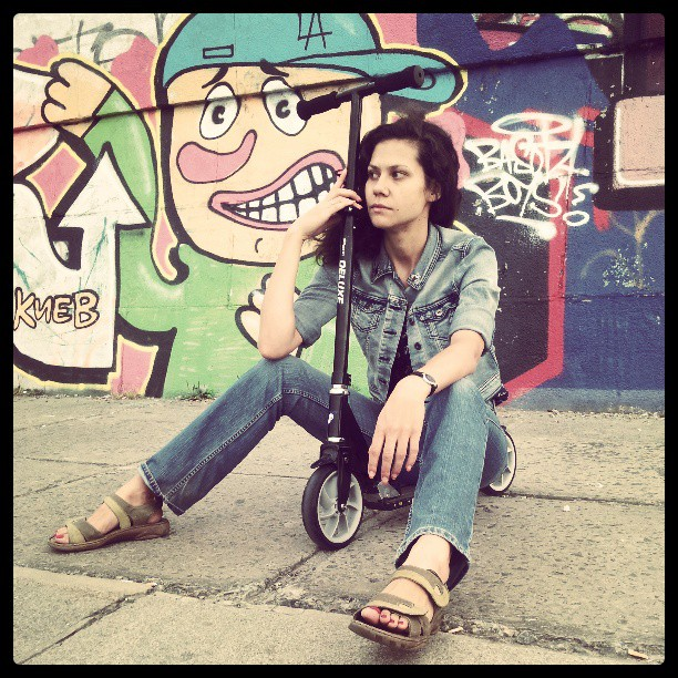 UUC -Ukrainian urban culture #scooter #Kyiv #Ukraine #самокат #Киев #Украина #graffity #набережная