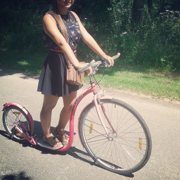 My ride of the day #kickbike #ootd #asian #summer