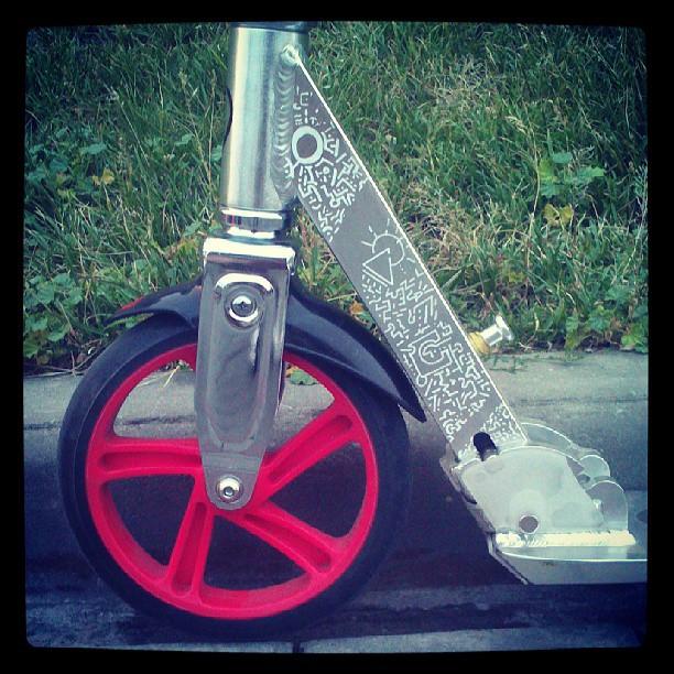 #тюнинг ёпт! #pattern #art #scooter #kickscooter #redweel #razor #razora5lux