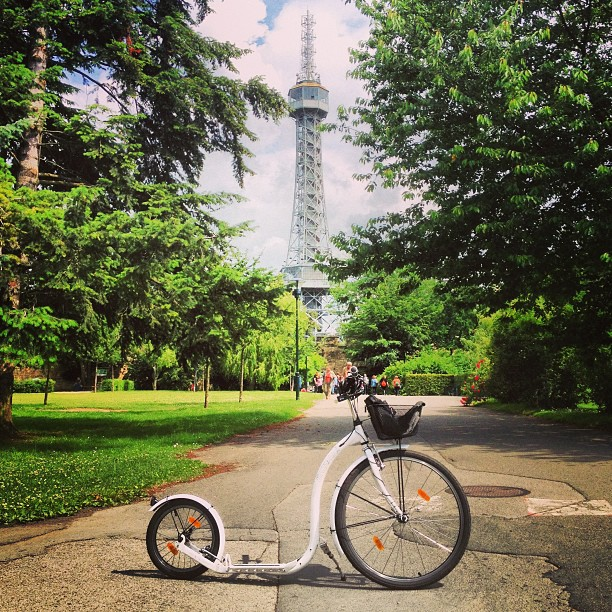 The #Eiffel #Tower of #Prague. #kolobka #koloběžka #kickbike
