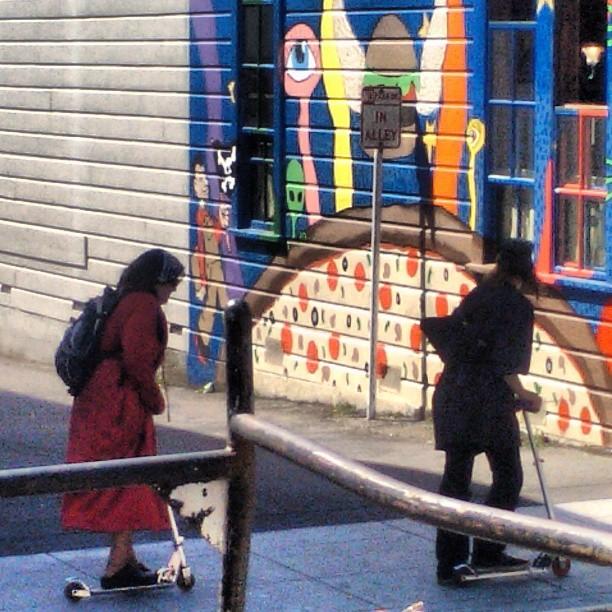 Razor Gang. #razorscooter #plazoids #NewWaveOfHomlessTransportation #arcata #homeless