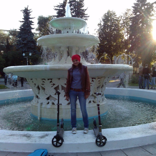 #фонтан#самокат#letskick