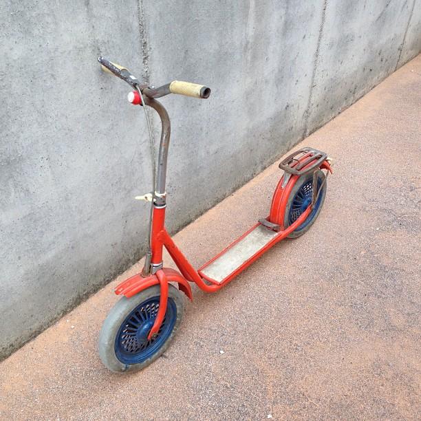 #vintage #monopattino #annicinquanta #kickscooters #scooters #kick #scooter #orange #roller #kickroller