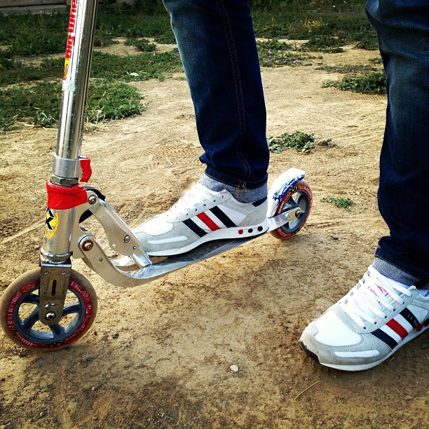 #adidas #la #ny #newyork #trotinette #wheels #freestyle #losangeles #trainers #jeans #sneakers #pairof #pair