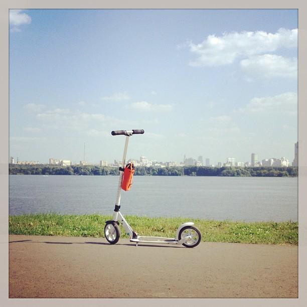 #путешествие по городу #москва на #самокат.е