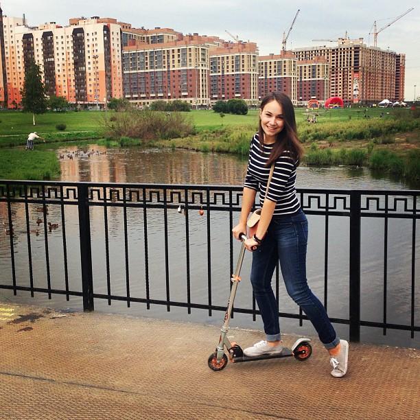 #парк#самокат#спорт#прогулка#новыйоккервиль#уточки#речка
