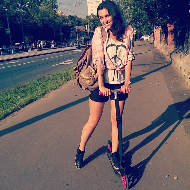 С работы домой!)))Уууу не надо стесняться! )))) #самокат#street