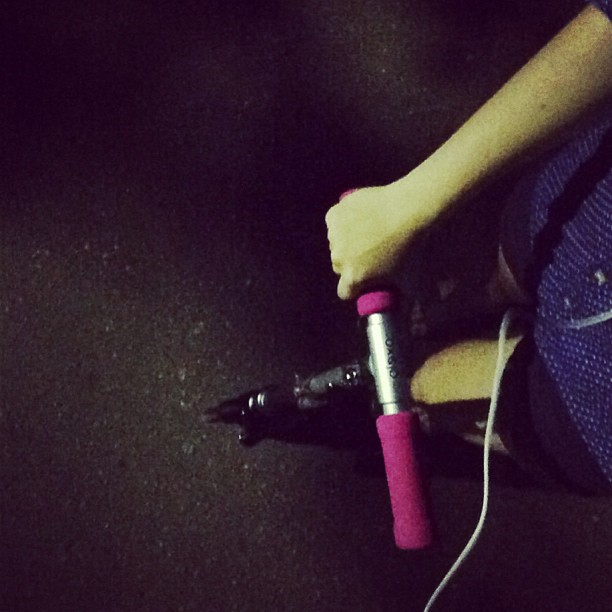 Моя крошка #Russia #Moscow #night #trip #kickscooter #pink #nice #lovely