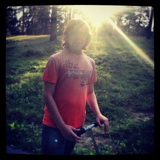 Катаемся на самокате) #самокат #парк