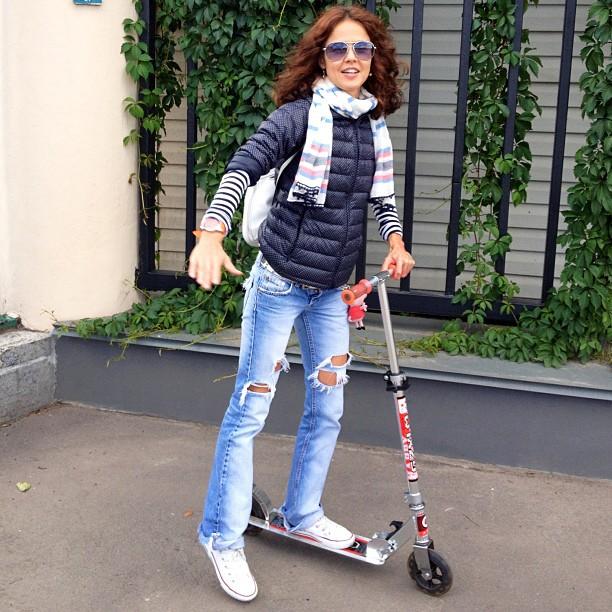 Закатала рукава в дорогу #самокат #scooter #fun #moscow