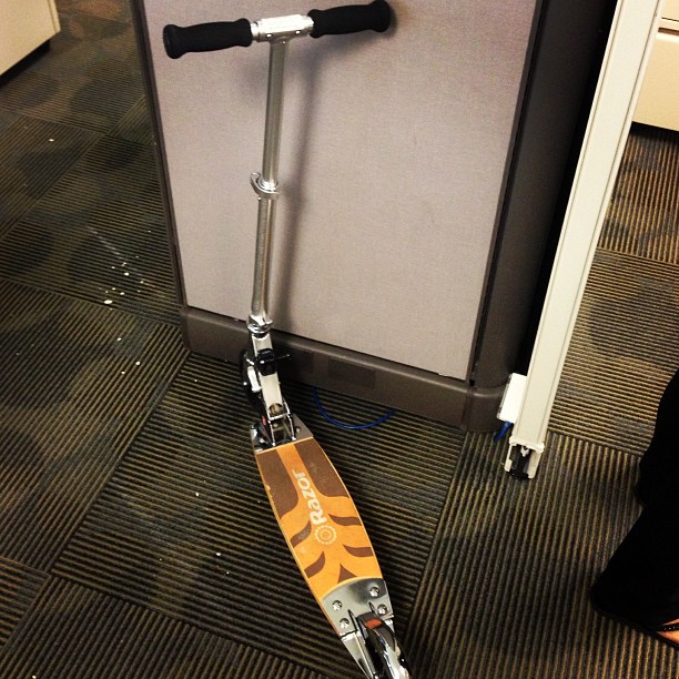 This is what we do at the office to get around, let off steam, and overall have fun. #razor #kickscooter #workflow