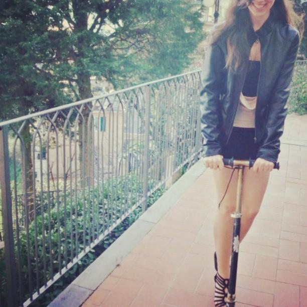 #ride #rider #monopattino #girl #smile #really
