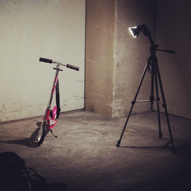 #work #hudora #scooter #205 #some #test #shots #flash #light