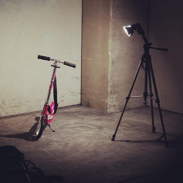 #work #hudora #scooter #205 #some #test #shots #flash #light