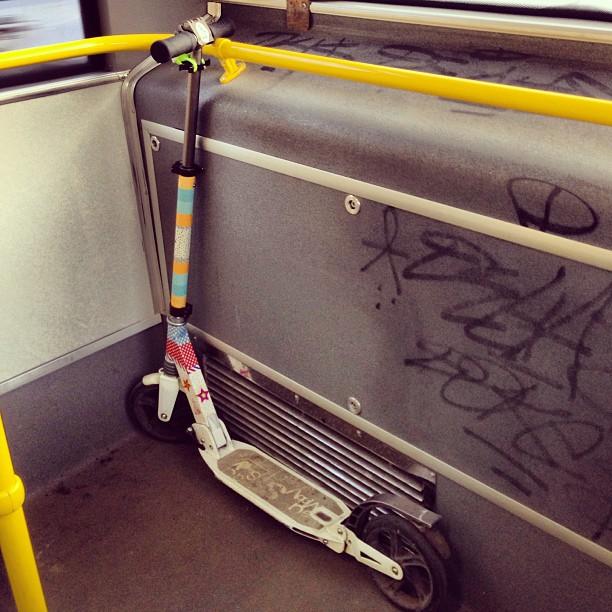 Парковочное место моего железного и (относительно) белого коня в троллейбусе ;)#letskick