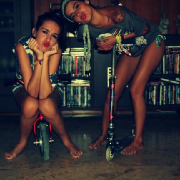 #me #ella #patinete #bicicleta #forever #lo #mejor #ella #tequiero #ratona !