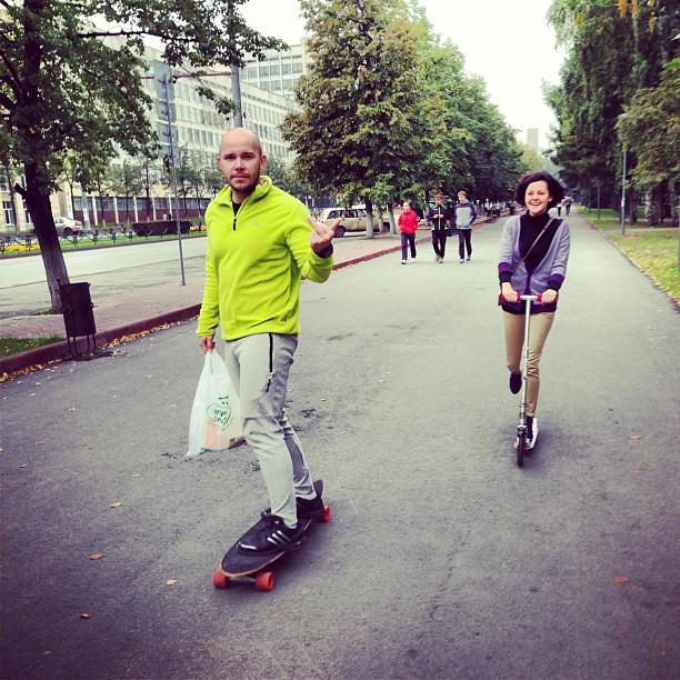 Мощная команда прорайдеров в движении✌#челябинск #юургу #самокат #скутер #лонгборд