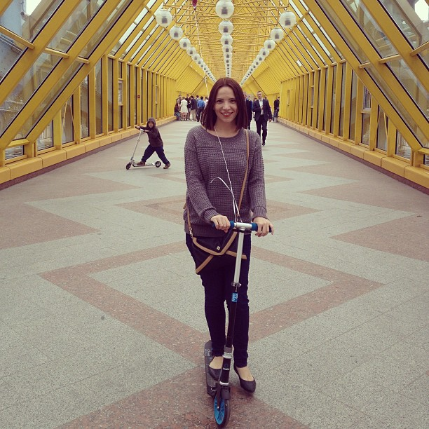 Андреевский #мост. #самокат #я