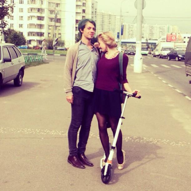 Мне подарили самокат #самокат #москва #вечеость