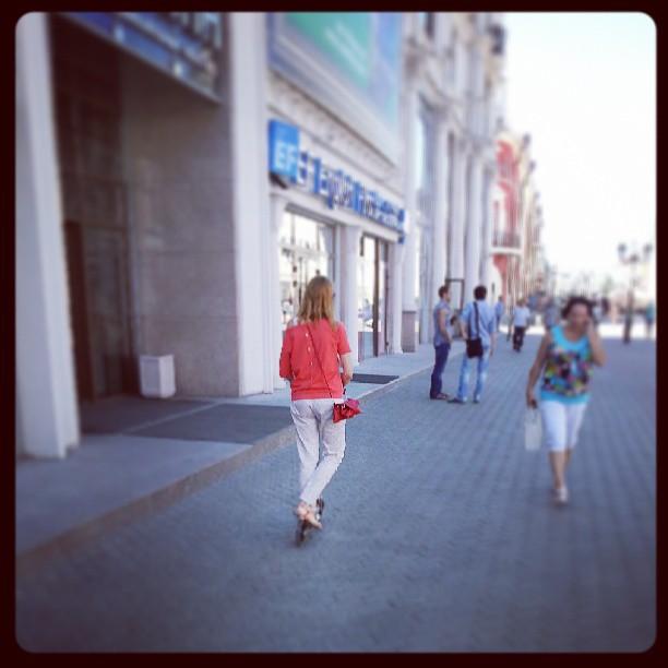 #казань#девушка#самокат
