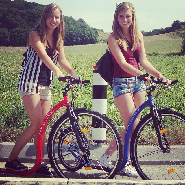 Met lieve Arianne #Maastricht #kickbike #summer #want #to #go #back #best #friend