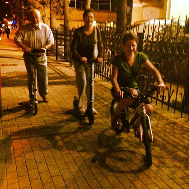 Катаемся #родители #адлер #bike #night #самокат