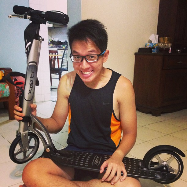 Proud owner of a #Xootr kick scooter. You are NEVER too old to own a kick scooter. #yourargumentisinvalid