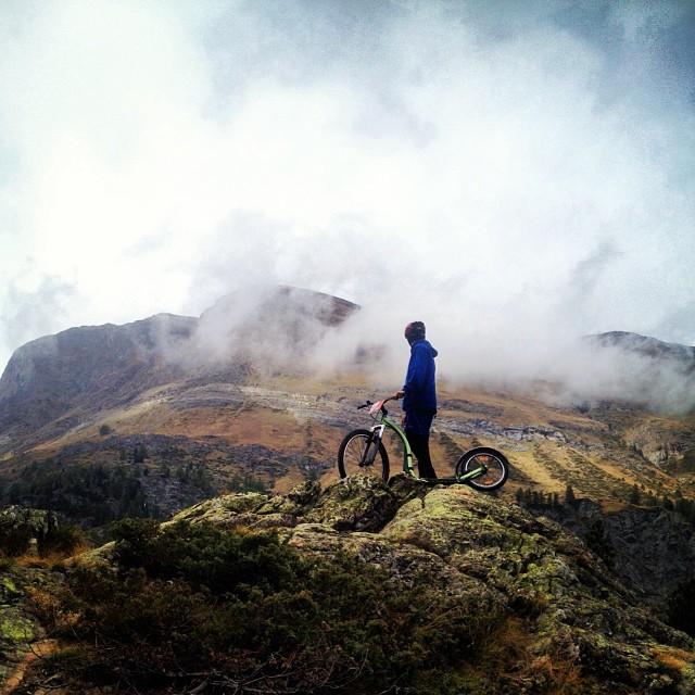 Some serious kick bike riding on the day off. #kickbike #zermatt