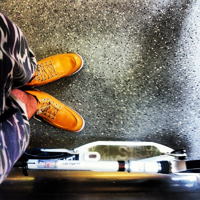 New kicks :) #timberland #oxelo #carharttwipsg #carharttwip #letskick #kickscooter #singapore #sg #igsg #oftd