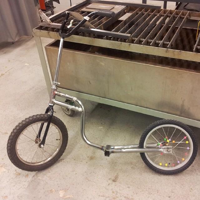 Muh kickbikeproject. #kickbike #welding #wip