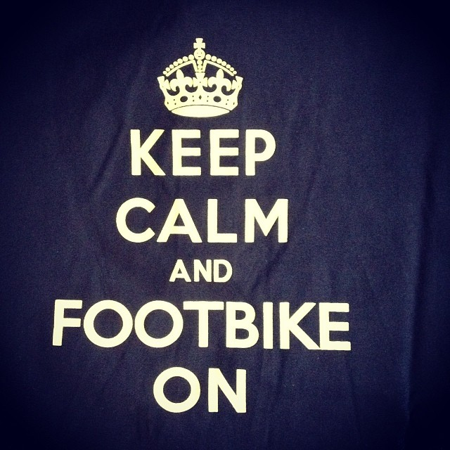 #footbike #keepcalm