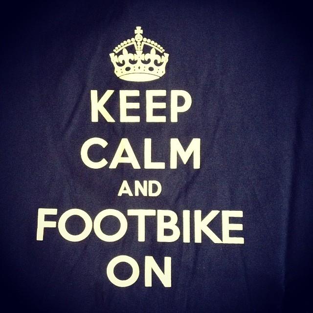 #footbike #keepcalm