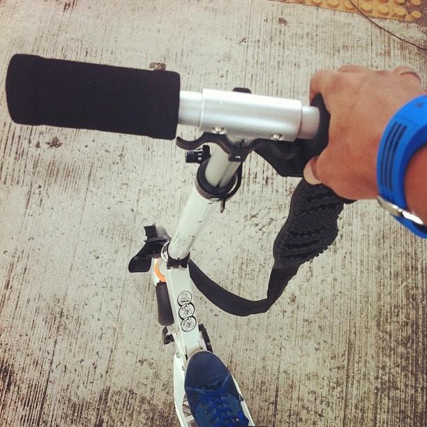Kick scooter my way to work today. Save bus fare and fast too! #kickscooter #savingontransport #fasterwaytoreachwork