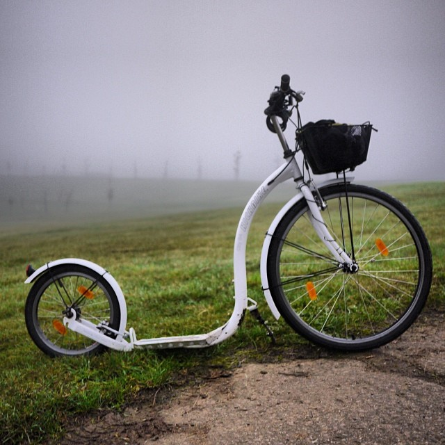 #Autumn #kickbike #track on this #foggy #Sunday