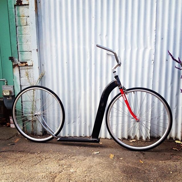 Not exactly a bike, but hot damn is it fun! #diy #kickbike #fuckyeah