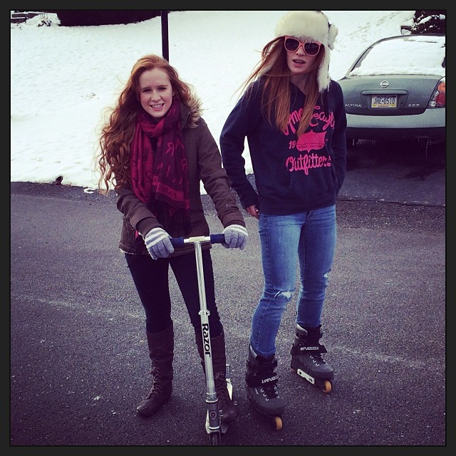 Thanksgiving tradition #razorscooter #rollerblades