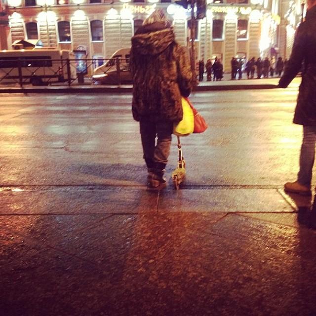 #Бабуля#самокат#питер#зима