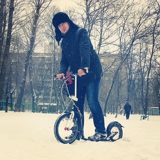 #letskickmoscow #letskick #самокат #Москва #Зима #2014 #снег