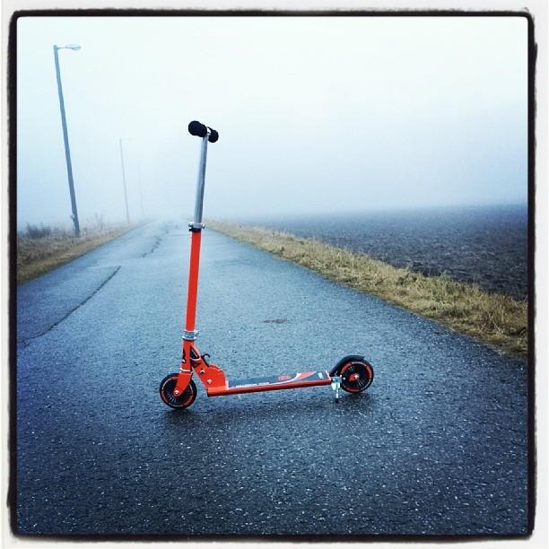 Da er den nye sparkesykkelen testet og jeg er klar for et nytt semester på uio#kickscooter#tiga