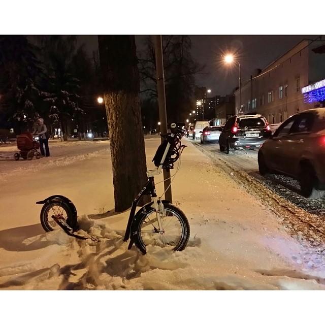 #Kostka #Koloběžka #kolobka #KostkaRebel #winter #Moscow #Russia #letskickmoscow #letskick #самокат